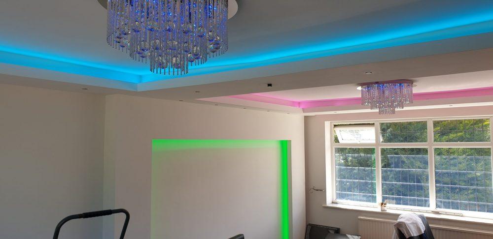 LED strip light installation